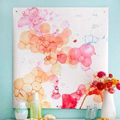 Paint Technique: Watercolor Bubbles