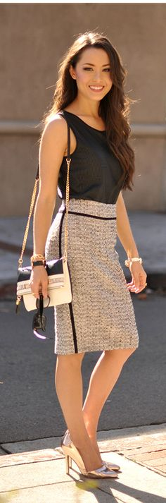 Nice outfit for the office. Heels may be a little high for comfort if you are standing a lot. #womensfashions