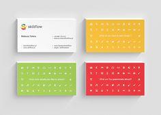 Skillflow Business Card #branding #visualidentity #logodesign #corporateidentity #stationery