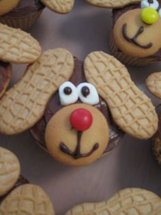 Dog Cupcakes, easy to make.