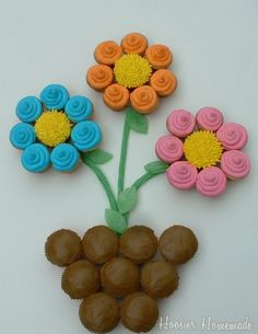 Potted Flower Cupcake Cake