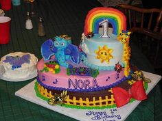 WOWZA!! Supper Grandma Heidi Ganschwrote made this for her granddaughter!! So colorful and fun!! Great job!! #GBbirthday