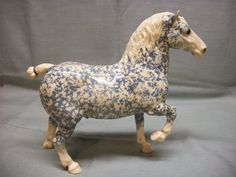 Historical Breyer Molding Co Copenhagen Belgian Decorator Horse Figurine | This model went for over $11,000 recently.  It was a prototype, and therefore it was a one-of-a-kind model.