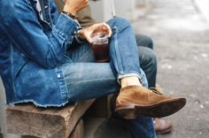 . jeans, double denim, salt selvedg