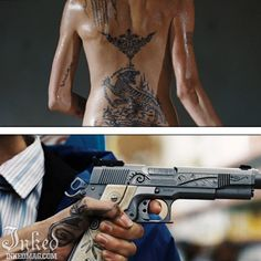 Best Tattoos In Movies-Pt3 : Inked Magazine - Angelina Jolie in Wanted #tattoo #tattoos #movies #inkedmag #celebrities #celebritieswithtattoos #actor #actress