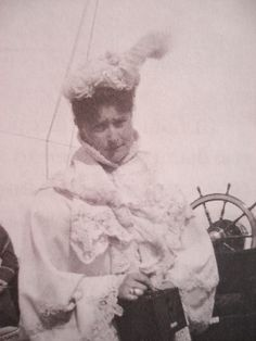 Tsarina Alexandra Feodorovna of Russia on the Standart, 1902.
