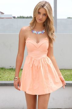 #peach #dress #summer #pastels #fashion #outfit