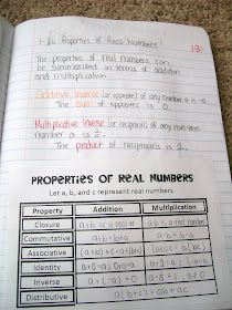 Math = Love: Algebra 2 Week 1 INB Pictures