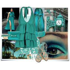 """TEAL"" by jinnette-ries-park on Polyvore"