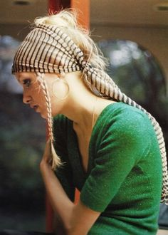 Love the head scarf. Wish it would work on my head! Boo:(