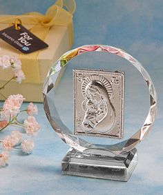 Madonna And Child Crystal First Communion Plaque http://www.alittlefavor.com/products/116/fc2115/madonna-and-child-crystal-first-communion-plaque.html