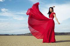 Gorgeous scarlet.