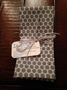 Handmade Custom Cloth Napkins by InStitchess on Etsy, $15.00