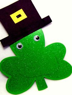 Mr. Shamrock Head. Let kids get creative with this fun craft for St. Patrick's Day. http://www.ivillage.com/fun-st-patricks-day-crafts-kids/6-a-332359#