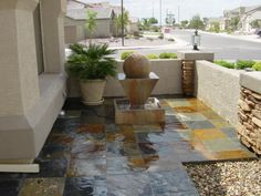 tile with stone pillars