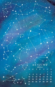 Cosmic Constellations, Aug 2014