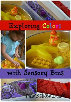 Mamas Like Me: Dyed Rice #Sensory Play and The Weekly Kid's Co-op - Includes a tutorial for dyed rice!  So easy and fun! #preschool
