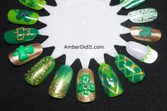 Amber did it!: St. Patrick's Day Nail Wheel