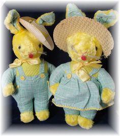 Vintage - 1940's Easter Bunny Rabbits easter rabbit