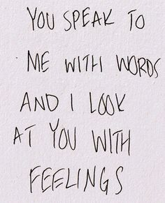 #Words #Feelings
