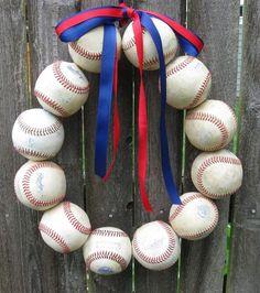 baseball wreath.