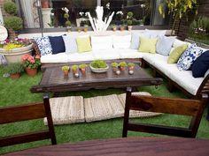 pallet, garden televis