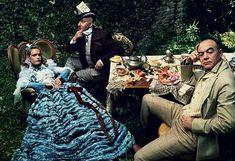 natalia vodianova, alice in wonderland, christian lacroix, annie leibovitz, couture dresses, tea party wedding, aliceinwonderland, parti, haute couture