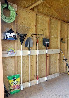 Tool Shed Makeover {#3M DIY} garag organ, garag solut, garag storag