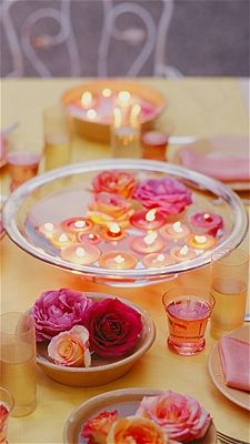 Still obsessed with the floating candle centerpieces