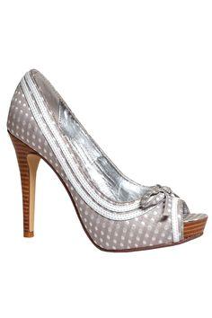 Grey Polka Dot Shoe