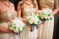 gold bridesmaid dres