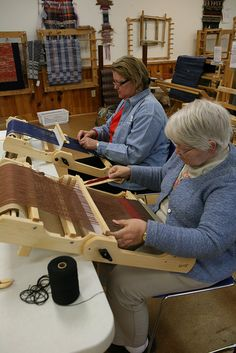"""Weaving """"Small Looms - Big Results with Susan Leveille, via Flickr. 