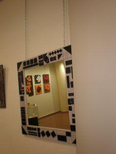 espejo con marco de fusing