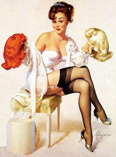 up styles, wig, pinupart, blond, pin up art