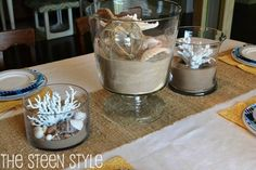 Pottery Barn Knock-Off Summer Beach Centerpiece