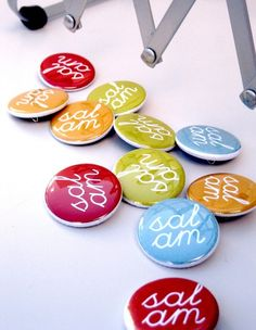 3 Salam Buttons. $2.00, via Etsy.