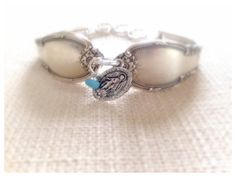 Mother's Day blue spoon bracelet by WillowgalJewelry on Etsy, $30.00