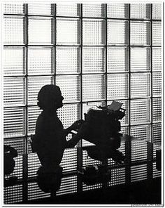 Woman at typewriter, Hedrich Blessing