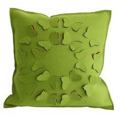 Felt butterfly pillow
