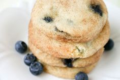 Blueberry Snickerdoodle cookies