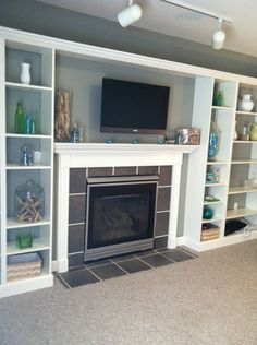 Wall units for TV on Pinterest