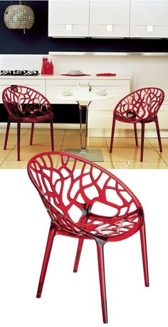 Modern Dining Chair. #red