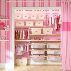 Closet with curtain.