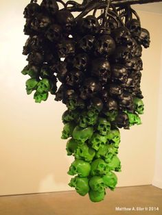 Black Grapes of Wrath - #Ludo Interview & Solo Show #FruitoftheDoom @ Jonathan Levine Gallery, NYC #art #skulls #design #sculpture