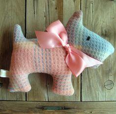 Patty Pink Check Upcycled Plush Scotty Dog by leahkl on Etsy. , via Etsy.