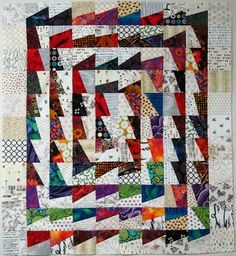 Fractured Block Quilt.   Exuberant Color Blog