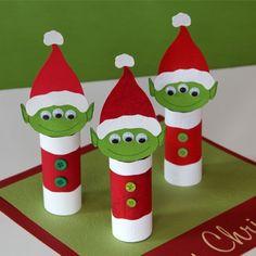 Paper Roll Three-eyed Alien Elves Craft