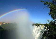 """see the """"moonbow"""" at cumberland falls, ky.  it's a rainbow. at night. during full moon. that is awesome."""