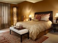 I definitely want my bedroom to be a brown, gold, earth toned combo.