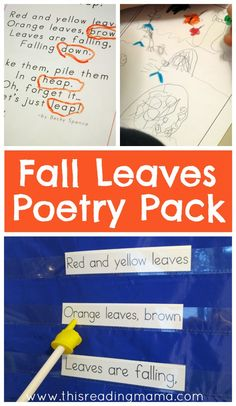 Fall Poetry Pack {for Grades K-2nd} ~ Features original poetry with literacy activities | This Reading Mama